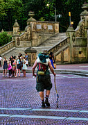 Central Park Photos - Central Park Hiker by Paul Ward