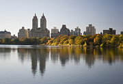 Central Park West Photos - Central Park In Autumn, New York City by Ellen Rooney