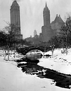 Manhattan Snow Posters - Central Park, New York City, Circa 1945 Poster by Everett