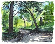 Jogging Paintings - CENTRAL PARK  New York by Patrick Grills