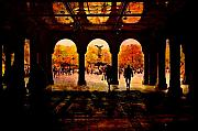New York Digital Art Metal Prints - Central Park NYC  Under the Bridge Metal Print by Jeff Burgess