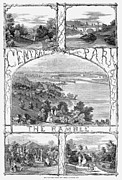 Hoop Prints - Central Park: Ramble, 1860 Print by Granger