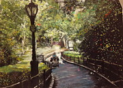 Manhattan Pastels Posters - Central Park Upper East Side Poster by Barry Rothstein