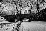 Cold Prints - Central Park West and the San Remo Building  Print by John Farnan