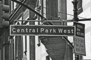 Street Sign Posters - Central Park West Poster by Sharla Gentile