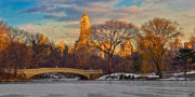 Bow Bridge Digital Art Prints - Central Parks Famous Bow Bridge Print by Chris Lord