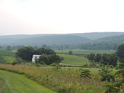 Amish Farms Photos - Central Pennsylvania Centre Hall PA Farming Mountain Landscape by JB Ronan