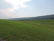 Amish Farms Photos - Central Pennsylvania Mountain Valley Landscape by JB Ronan