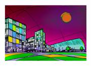 Central Skyline Print by Zbigniew Rusin