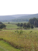 Amish Farms Photos - Centre Hall Pennsylvania Farmland and Mountains by JB Ronan