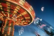 Amusement Park Ride Framed Prints - Centrifugal Amusement Framed Print by Gerard Fritz