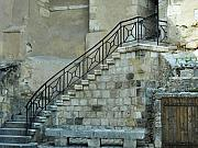 Stairs Art - Centuries Old Stairs in France by Marion McCristall