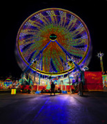 Ferris Wheel Night Photography Framed Prints - Century Wheel Framed Print by David Lee Thompson