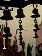 Chimes Framed Prints - Ceramic Bells Framed Print by Olden Mexico