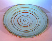 Wheel Thrown Ceramics Framed Prints - Ceramic Platter Framed Print by Lauren Bausch