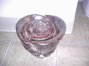 Floral Ceramics Prints - Ceramic Rose Print by Hunter Quarterman