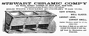 Washtub Prints - Ceramic Sink Advertisement Print by Granger