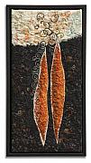 Black Tapestries - Textiles - Cercocarpus Seed by Lorraine Roy