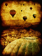 Hot Air Balloons Framed Prints - Cerebral Hemisphere Framed Print by Andrew Paranavitana