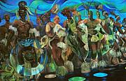 Ceremonial Dance Of The Mighty Zulus Print by Lee Ransaw