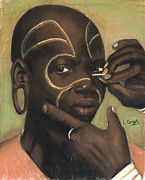 African Child Originals - Ceremonial Makeup No 1 by L Cooper