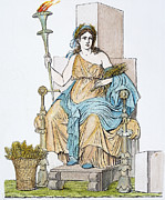Demeter Prints - Ceres Enthroned Print by Granger