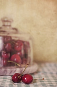 Cherry Metal Prints - Cerise Metal Print by Priska Wettstein