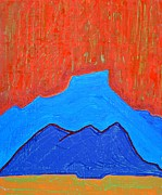 Abiquiu Paintings - Cerro Pedernal original painting by Sol Luckman