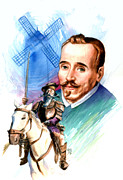 Spaniards Paintings - Cervantes by Ken Meyer jr