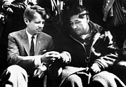 Bobby Kennedy Prints - Cesar Chavez Ends His Hunger Strike Print by Everett