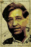 Workers Digital Art Posters - Cesar Chavez Poster by Jeff Nichol