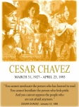 Johnkeaton Framed Prints - Cesar Chavez Poster Framed Print by John Keaton