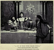 Borgia Prints - Cesare Borgia, Flanked By His Sister Print by Everett