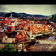 Czech Republic Art - Cesky Krumlov a Small Medieval City by Kate Pru