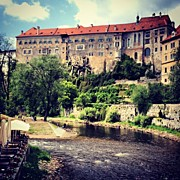 Czech Republic Art - Cesky Krumlov Castle Czech Republic by Kate Pru