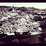 Czech Republic Art - Cesky Krumlov Medieval European City by Kate Pru