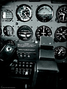 Single-engine Photo Prints - Cessna 172SP cockpit Print by Lamyl Hammoudi
