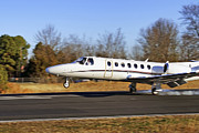 Conway Arkansas Prints - Cessna Citation Touchdown Print by Jason Politte