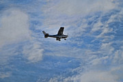 Single-engine Photo Prints - Cessna in Flight Print by Paul Ward