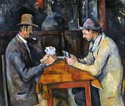 Game Photo Framed Prints - CEZANNE: CARD PLAYER, c1892 Framed Print by Granger