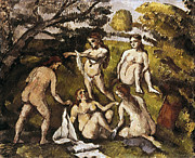 Impressionism Photos - Cezanne: Five Bathers by Granger