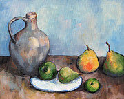 Pear Painting Acrylic Prints - Cezannes Jug Acrylic Print by Torrie Smiley