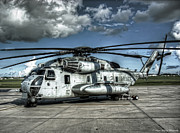 53 Framed Prints - CH-53 Super Stallion Framed Print by Ryan Wyckoff