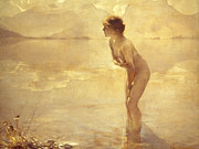 Nude Women Posters - Chabas: September Morn Poster by Granger