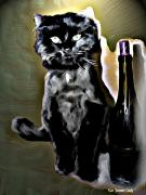 Kitty Digital Art - ChaChas Night Out by Kim Yvonne Cady