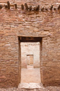 Pueblo People Prints - Chaco Canyon Doorways 1 Print by Carl Amoth