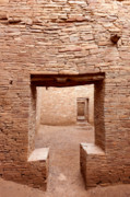 Pueblo People Prints - Chaco Canyon Doorways 2 Print by Carl Amoth