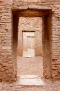 Pueblo People Prints - Chaco Canyon Doorways 3 Print by Carl Amoth