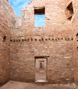 Pueblo People Posters - Chaco Canyon Doorways 4 Poster by Carl Amoth