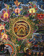Spiritual Art Paintings - Chacruna Versucum 2007 version  by Pablo Amaringo